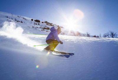 skiën met kerstmis